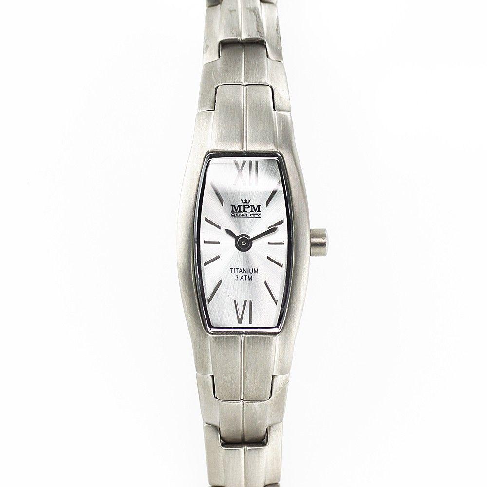 Stylové dámské hodinky s elegantním ciferníkem v titanovém pouzdře..0236 170624 Hodiny