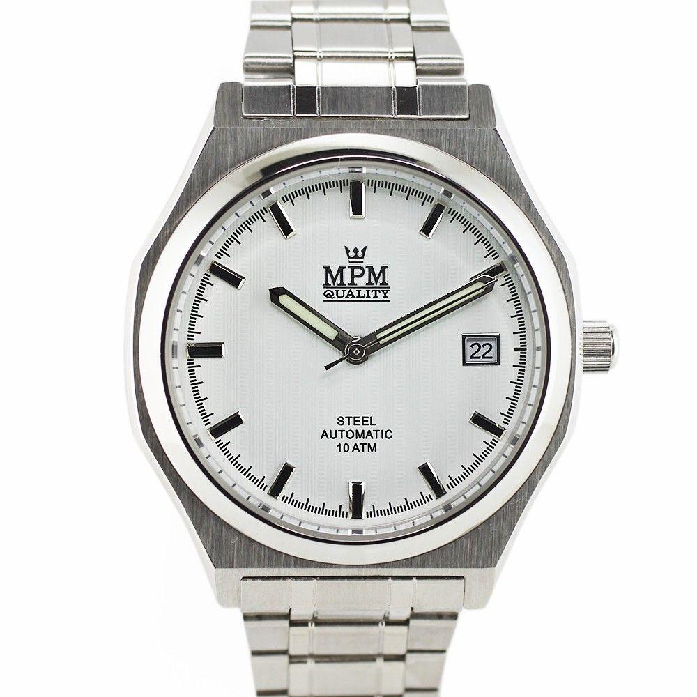 Stylové pánské hodinky s datem a reliéfním číselníkem..0312 170697 Hodiny