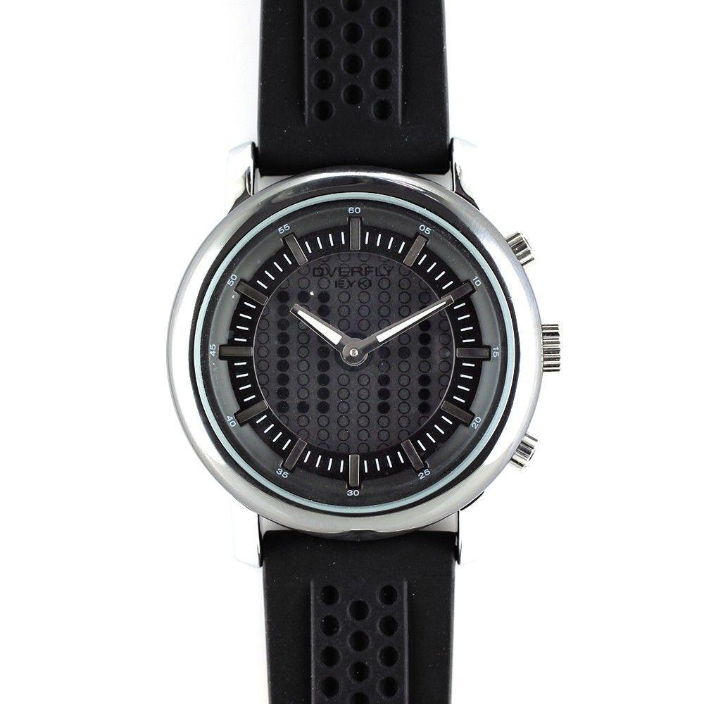 Barevně sladěné hodinky s kombinovaným číselníkem a silikonovým řemínkem..0332 170717 Hodiny