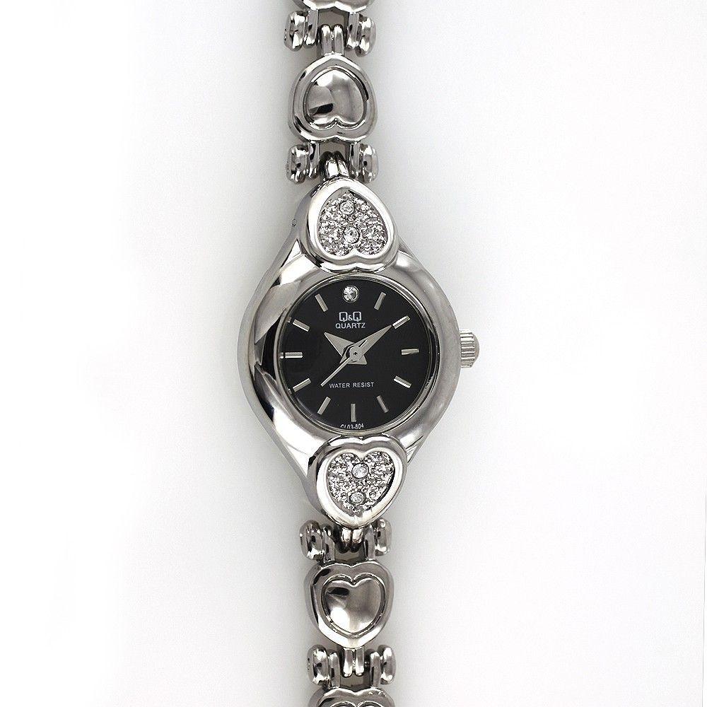 Dámské elegantní hodinky s motivy srdce, zdobené broušenými kamínky..0466 170811 Hodiny