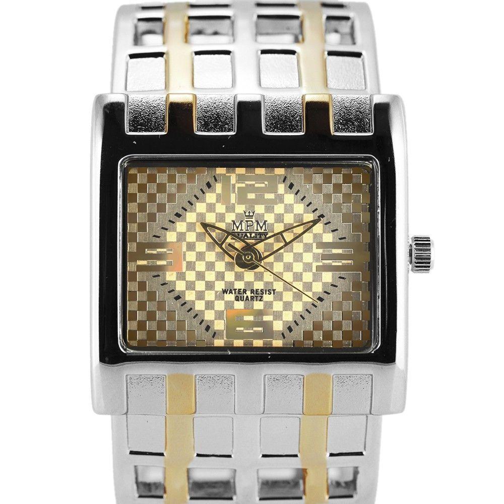 Dámské hodinky s pevným náramkem se zapínáním na klip. Náramek v kombinaci dvou barev..0419 170787 Hodiny