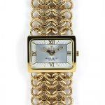 Dámské hodinky s římskými indexy a řetízkovým náramkem..0338 170723 Hodiny