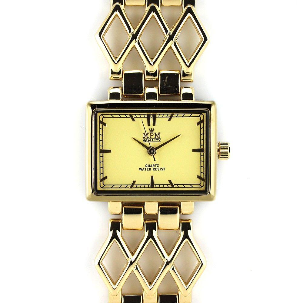 Dámské náramkové hodinky . Motiv z řemínku použit v číselníku..0340 170725 Hodiny