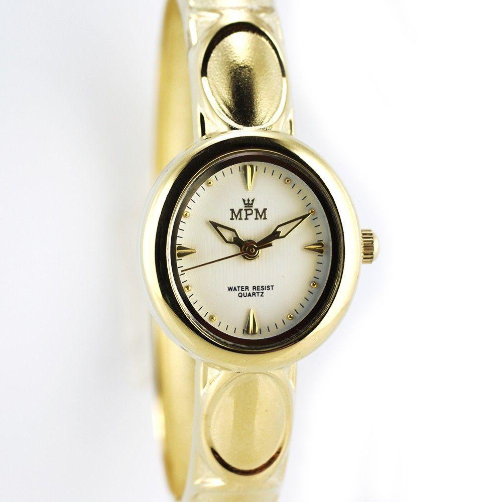 Dámské náramkové hodinky na pevném řemínku. Zapínání na klip..0384 170753 Hodiny