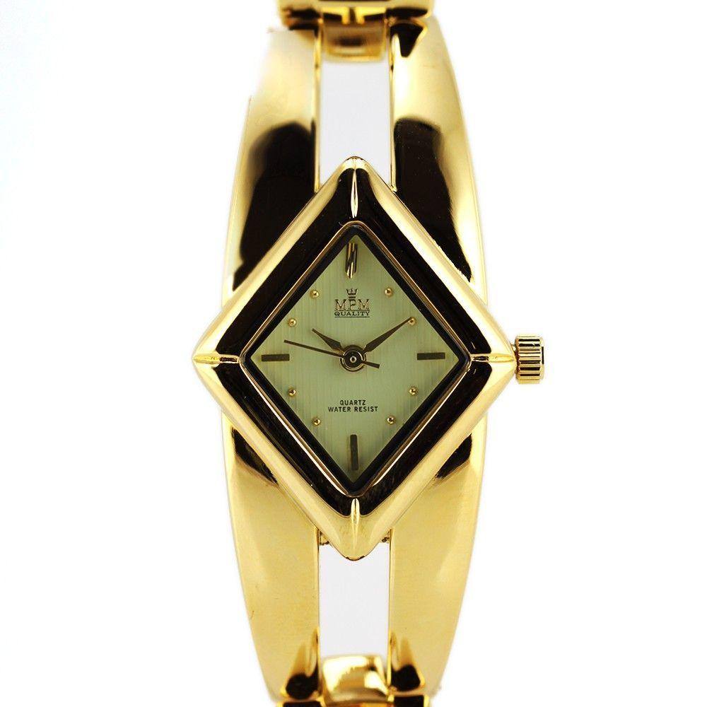 Dámské náramkové hodinky netradičního tvaru na pevném řemínku..0388 170757 Hodiny