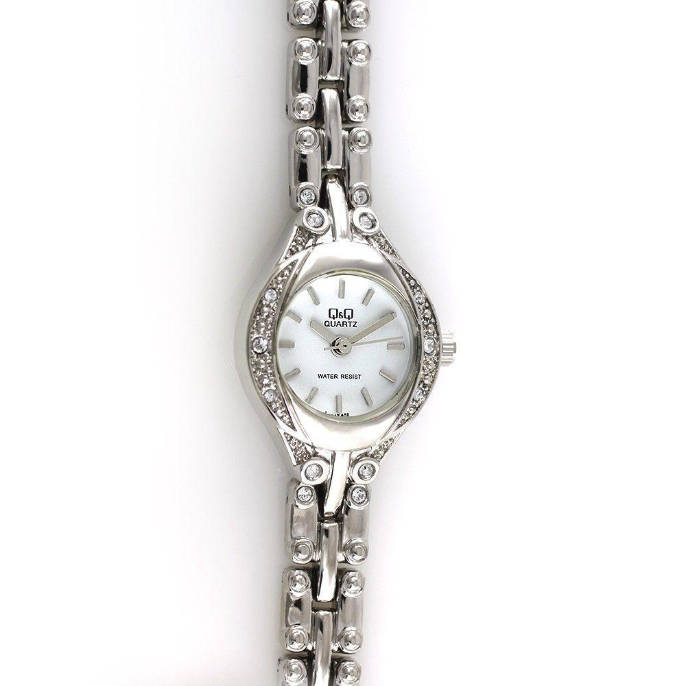 Dámské quartzové hodinky do společnosti zdobené brošenými kamínky..0469 170814 Hodiny