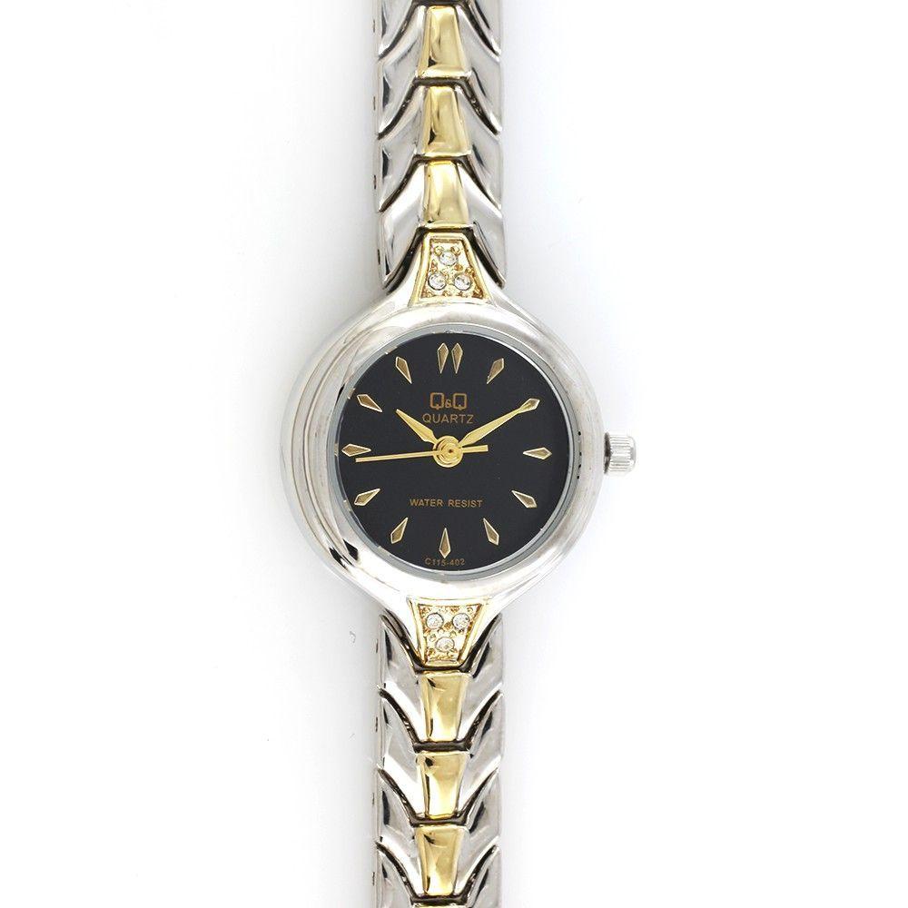Dámské quartzové hodinky v elegantním designu stříbrno-zlaté barvy..0471 170816 Hodiny