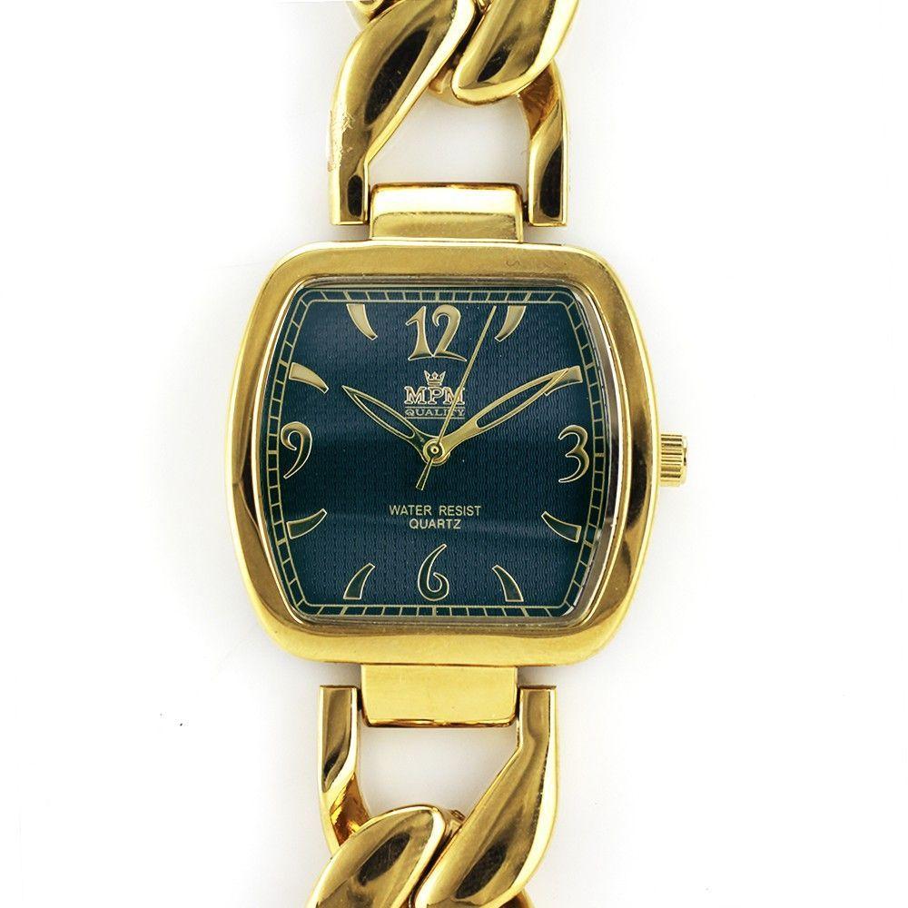 Dámské zlaté hodinky na elegantním náramku..0432 170799 Hodiny