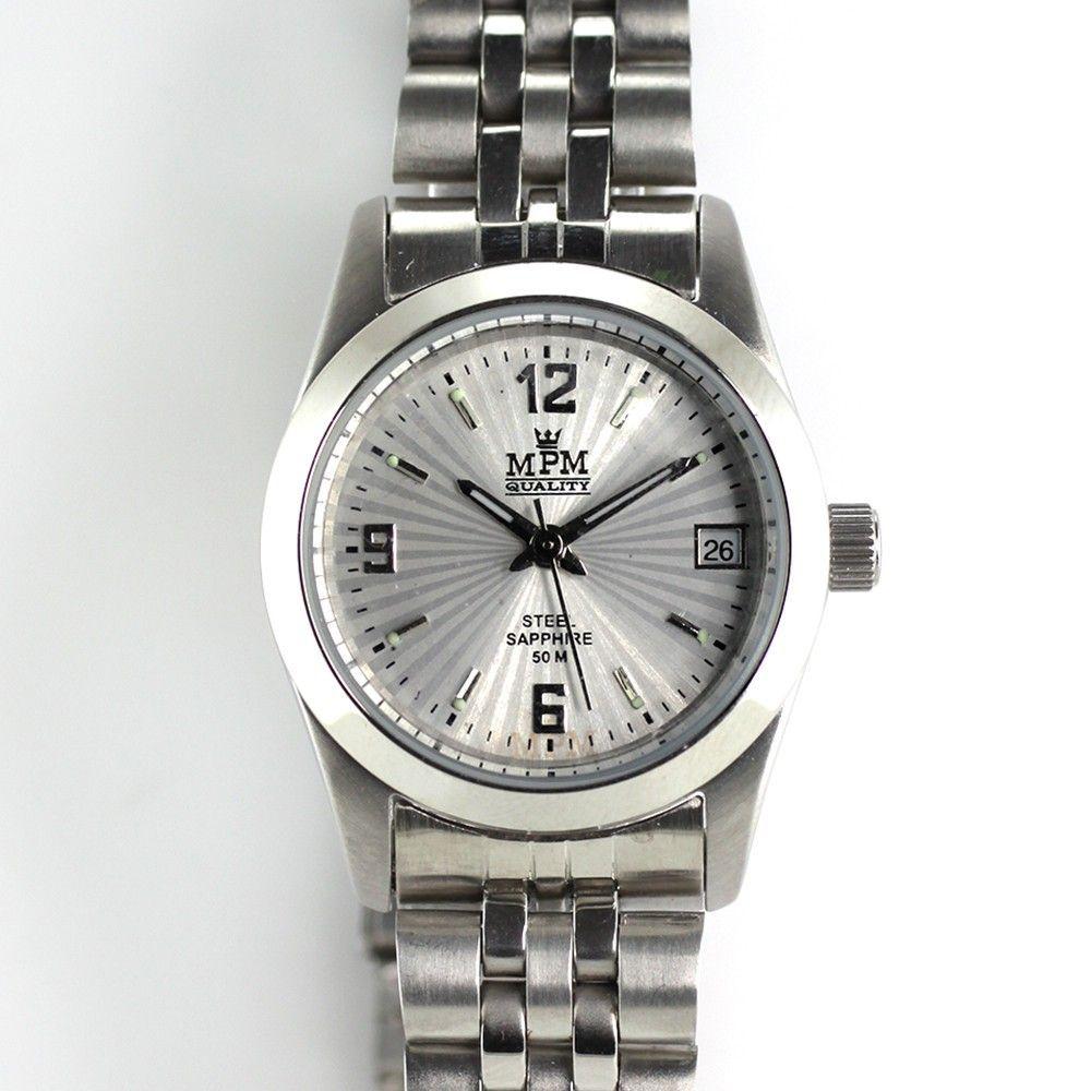Elegantní dámské nerezové hodinky s ukazatelem datumu..0319 170704 Hodiny