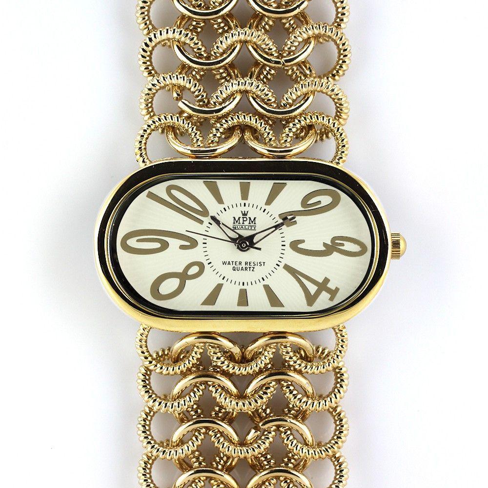 Elegantní dámské oválné hodinky s řetízkovým náramkem..0337 170722 Hodiny
