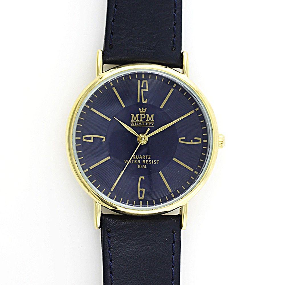 Elegantní jednoduché hodinky s římskými indexy na koženém řemínku..0461 170806 Hodiny
