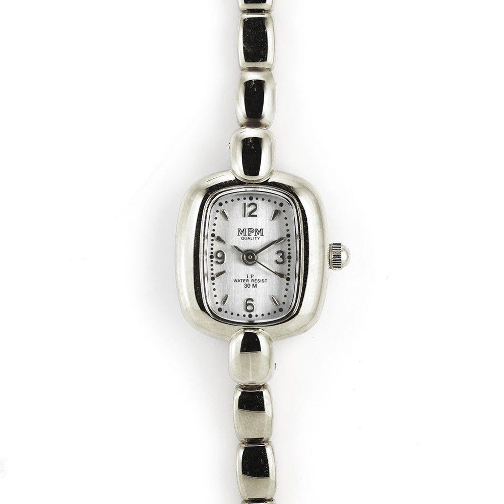 Jemné dámské hodinky stříbrné barvy..0429 170797 Hodiny