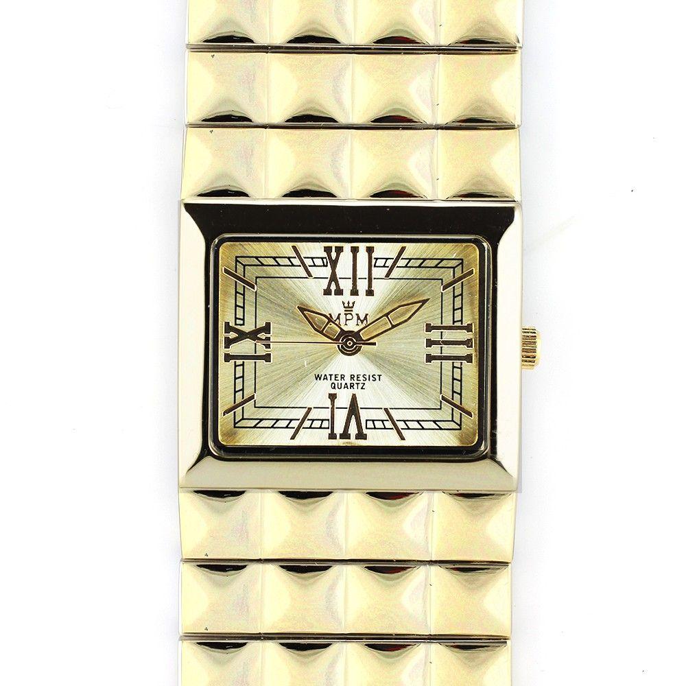 Nepřehlédnutelné náramkové hodinky s bílým číselníkem a římskými indexy..0350 170734 Hodiny