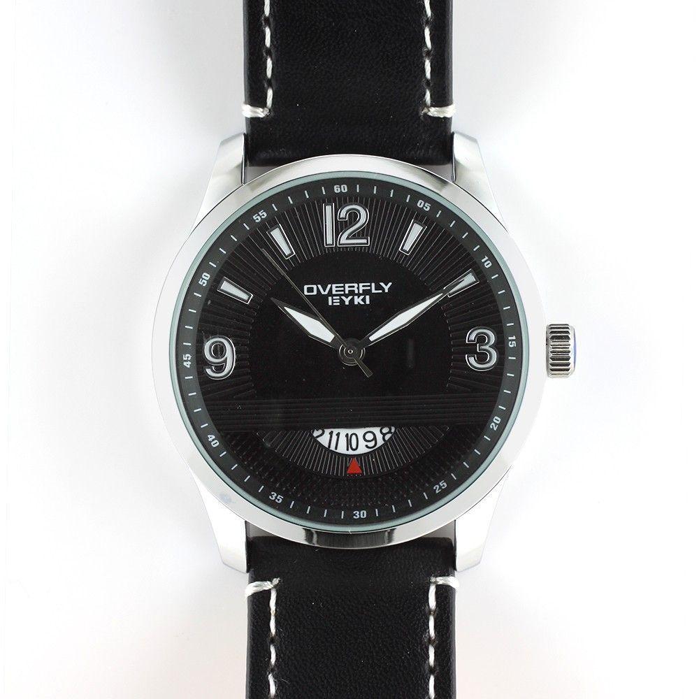 Pánské hodinky s datumem a koženým řemínkem..0326 170711 Hodiny
