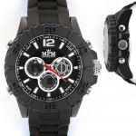 Pánské hodinky sportovního vzhledu s bílým pouzdrem a dvoubarevným silikonovým řemínkem..0355 170739 Hodiny