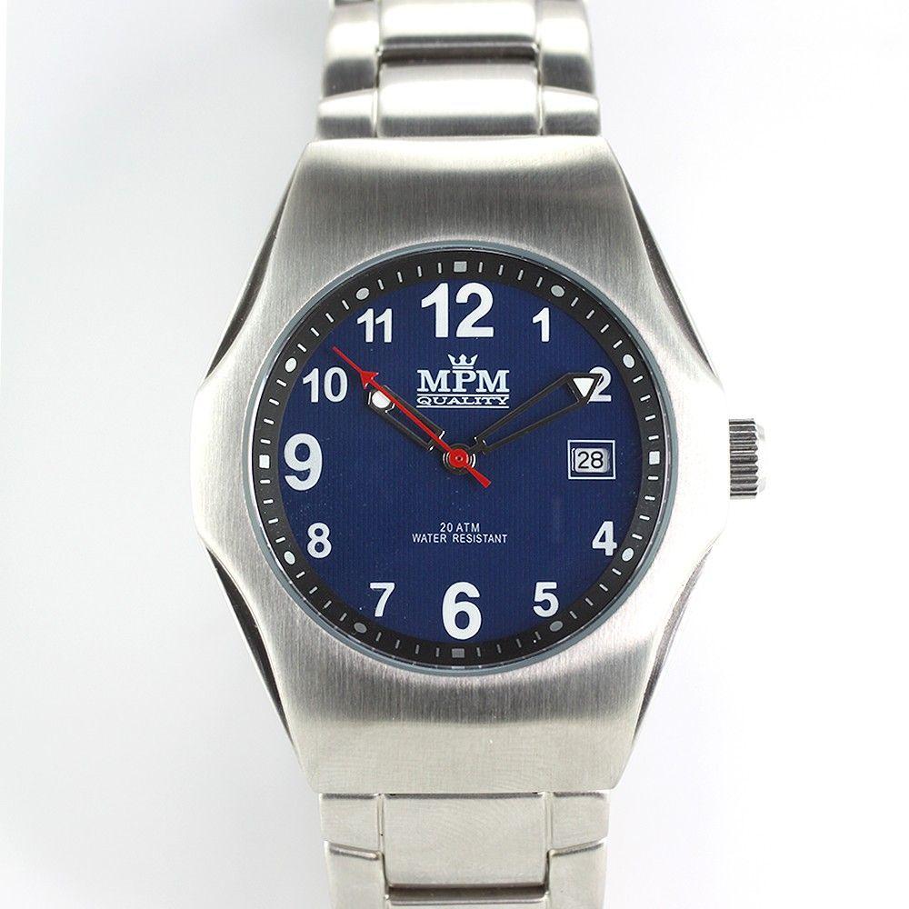 Sportovní hodinky s modrým číselníkem..0316 170701 Hodiny
