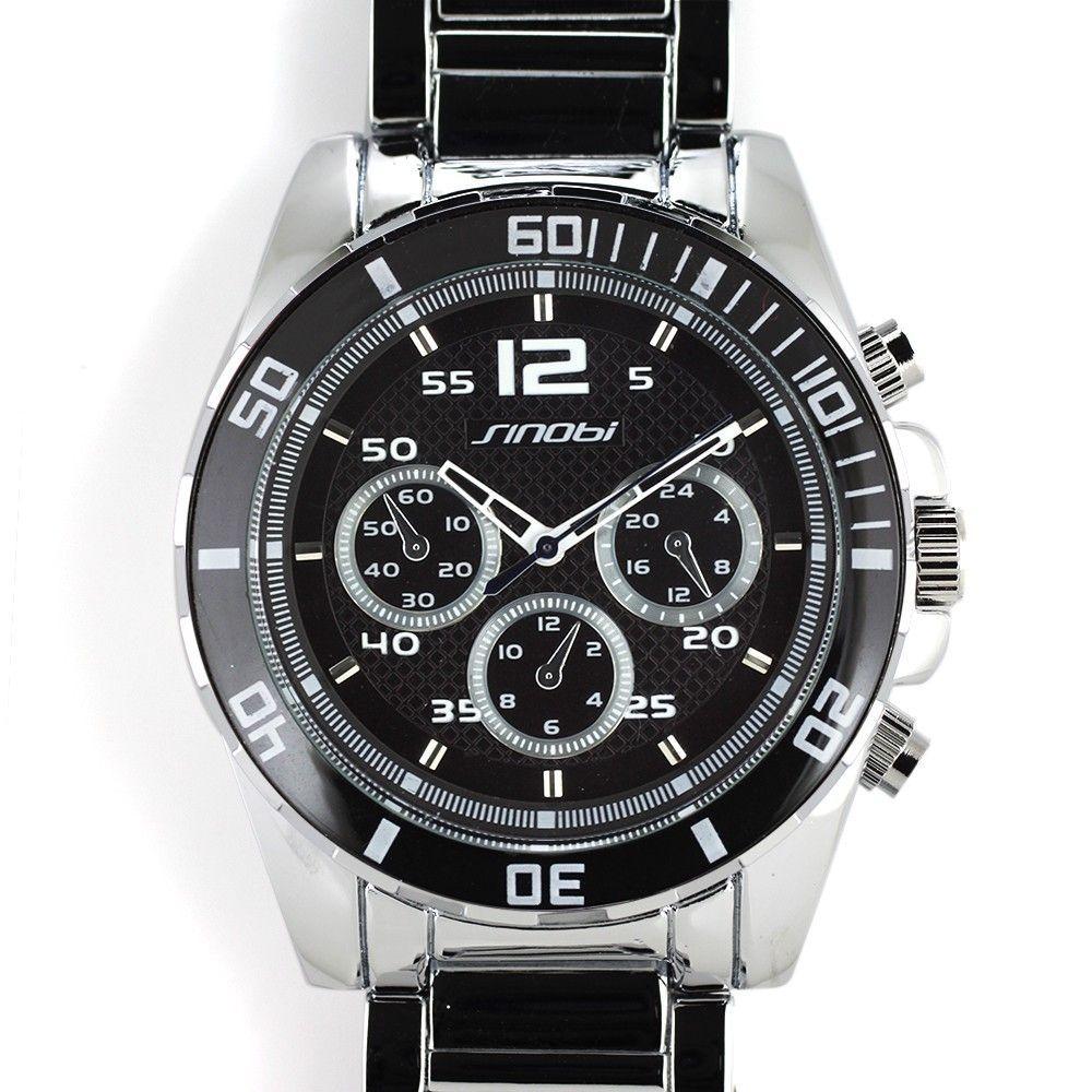 Sportovní multifunkční hodinky s otočnou lunetou a černým číselníkem..0347 170732 Hodiny