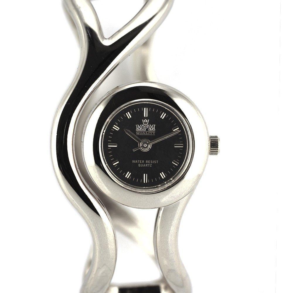 Velice elegantní hodinky zajímavého vzhledu ve stříbrném provedení..0418 170786 Hodiny