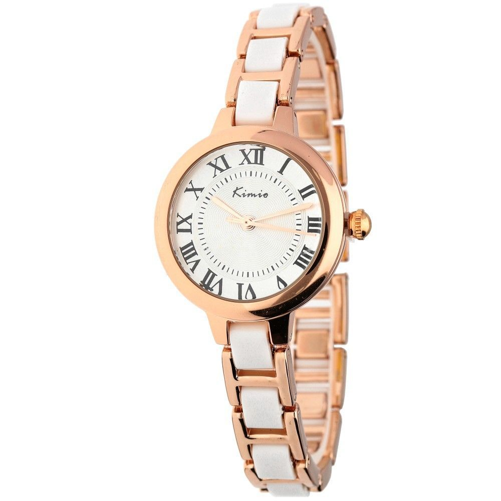 Dámské hodinky s římskými indexy a kombinovaným řemínkem..0607 170890 Hodiny