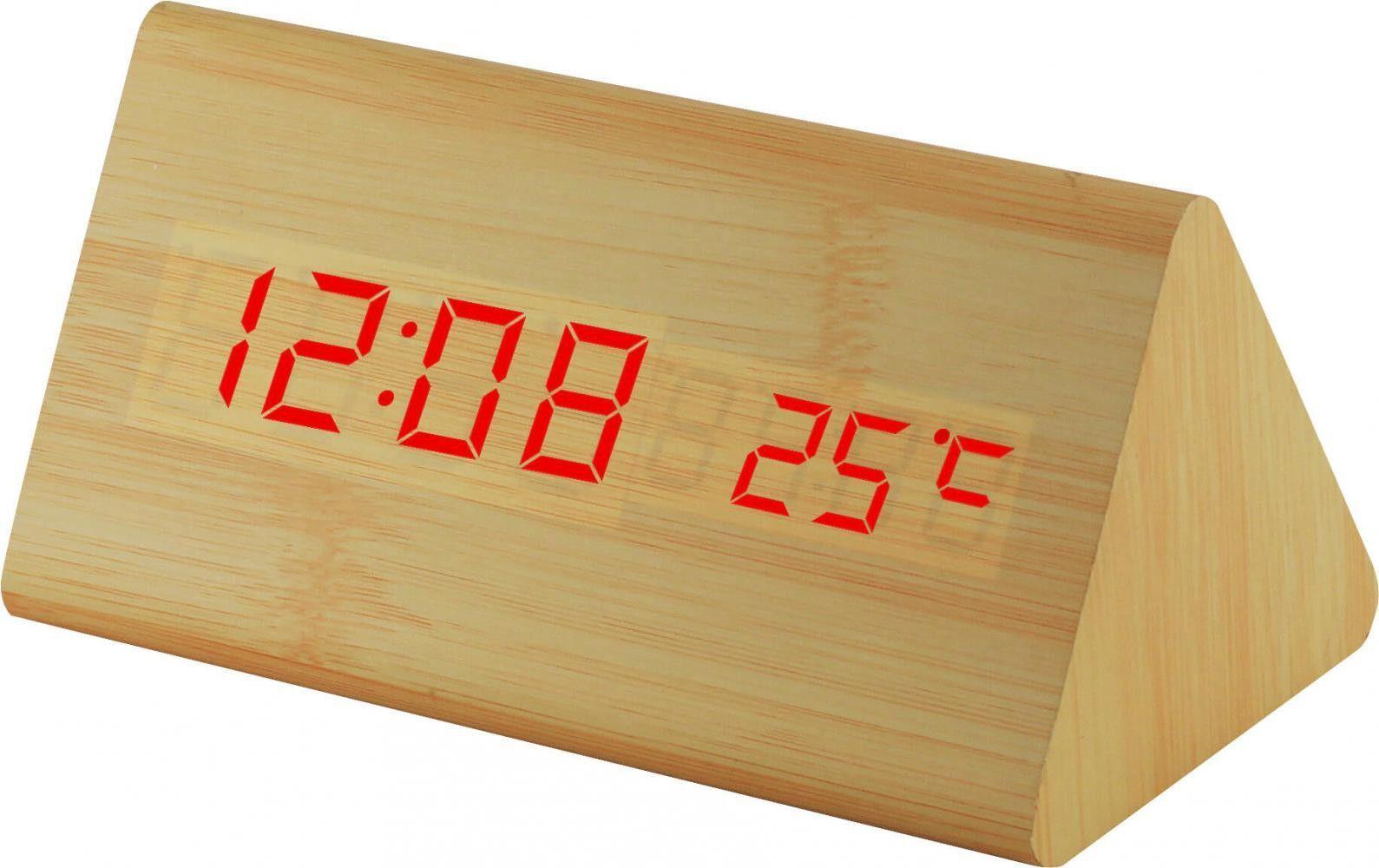 Digitální LED budík s datem a teploměrem, automatická rotace údajů a možnost volby intenzity displeje. Napájecí adaptér je součástí balení..0530 170846 Hodiny