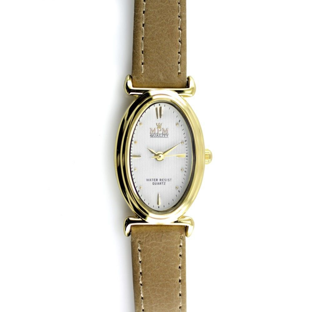 Elegantní dámské hodinky s tmavě modrým koženým řemínkem a stříbrným pouzdrem..0559 170862 Hodiny