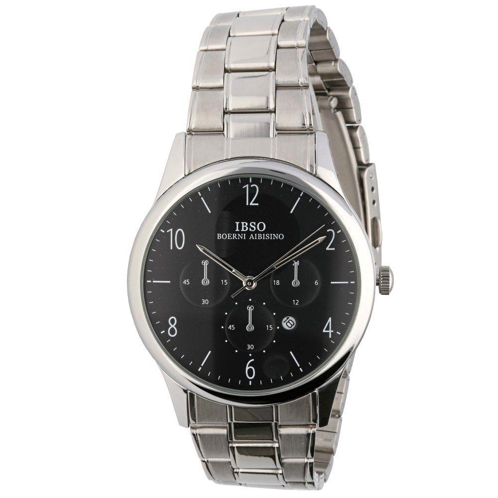 Elegantní hodinky s ocelovým řemínkem a ukazatelem data..0604 170887 Hodiny