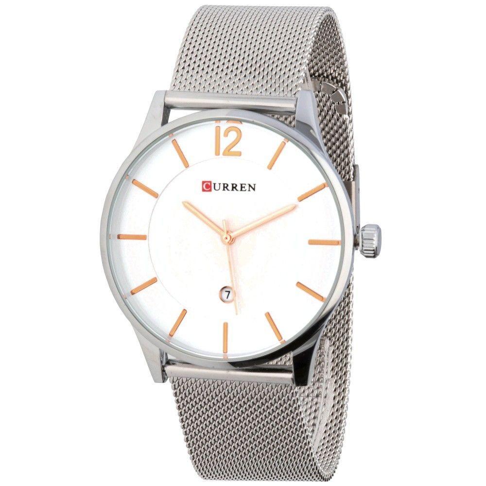 Elegantní pánské hodinky s jemným ocelovým řemínkem a decentním bílým ciferníkem..0618 170899 Hodiny