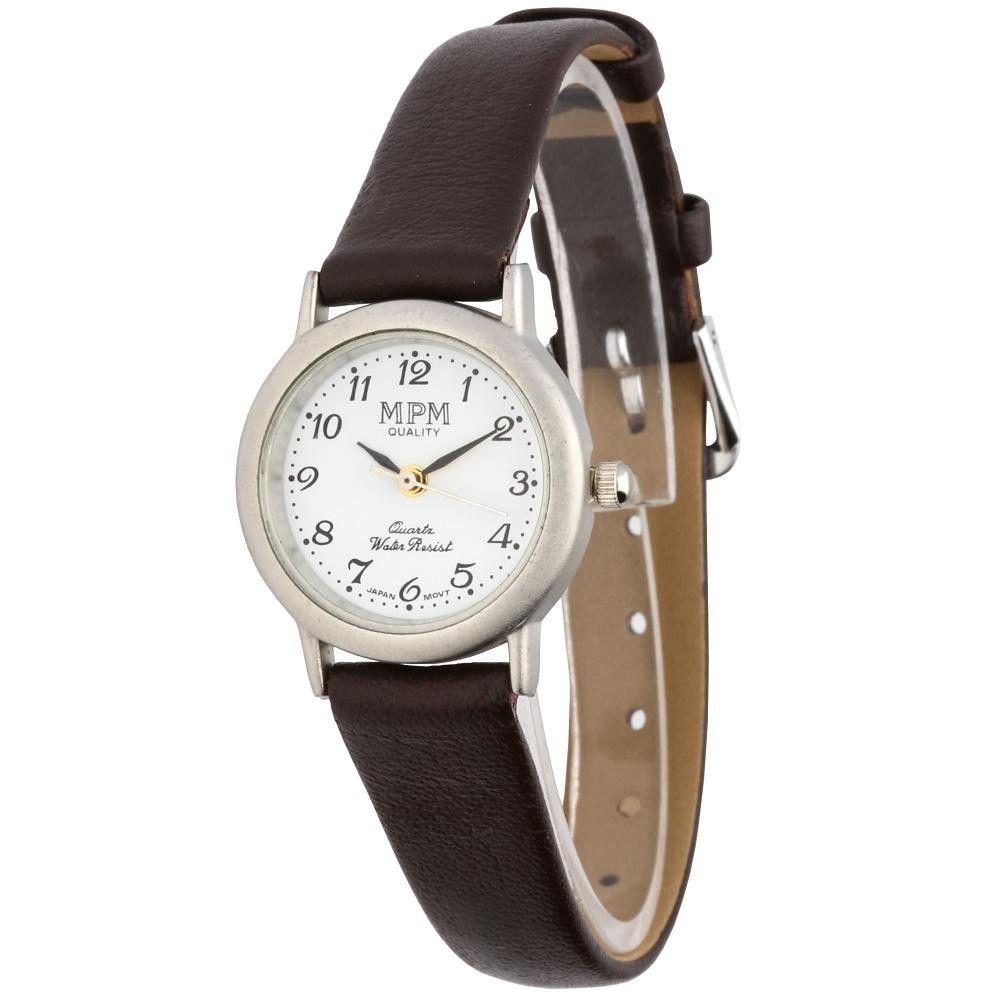 Jednoduché dámské hodinky s koženým řemínkem..0638 170919 Hodiny