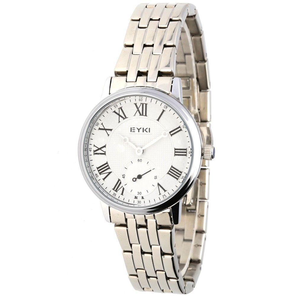 Klasické dámské hodinky s ocelovým řemínkem a římskými indexy..0614 170895 Hodiny