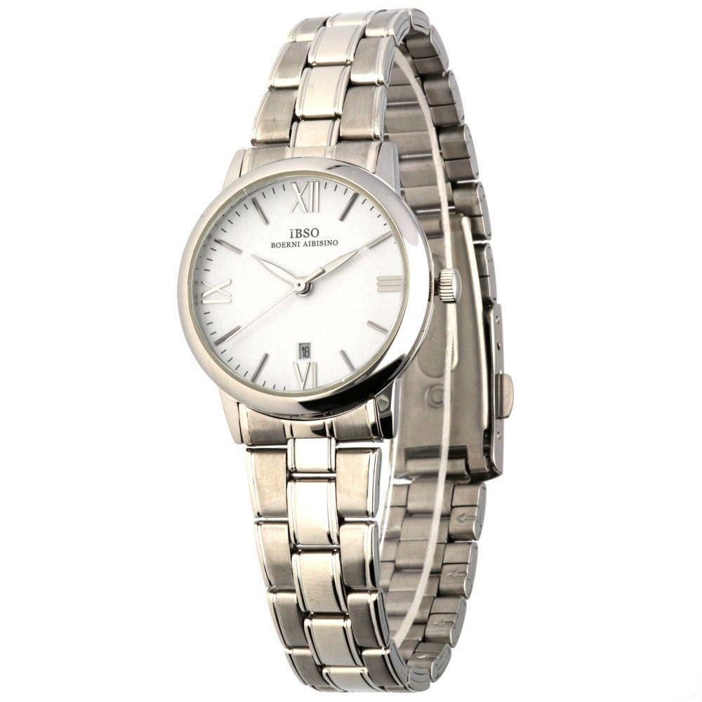 Klasické dámské hodinky s ocelovým řemínkem a ukazatelem data..0591 170875 Hodiny