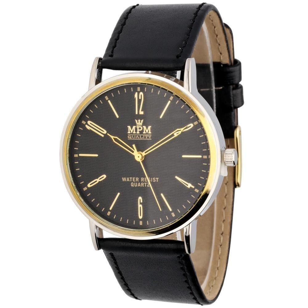 Klasické hodinky s koženým řemínkem..0639 170920 Hodiny