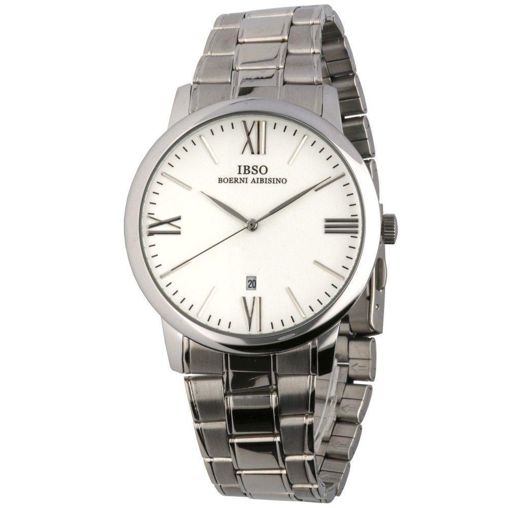 Klasické hodinky s ocelovým řemínkem a ukazatelem data..0603 170886 Hodiny