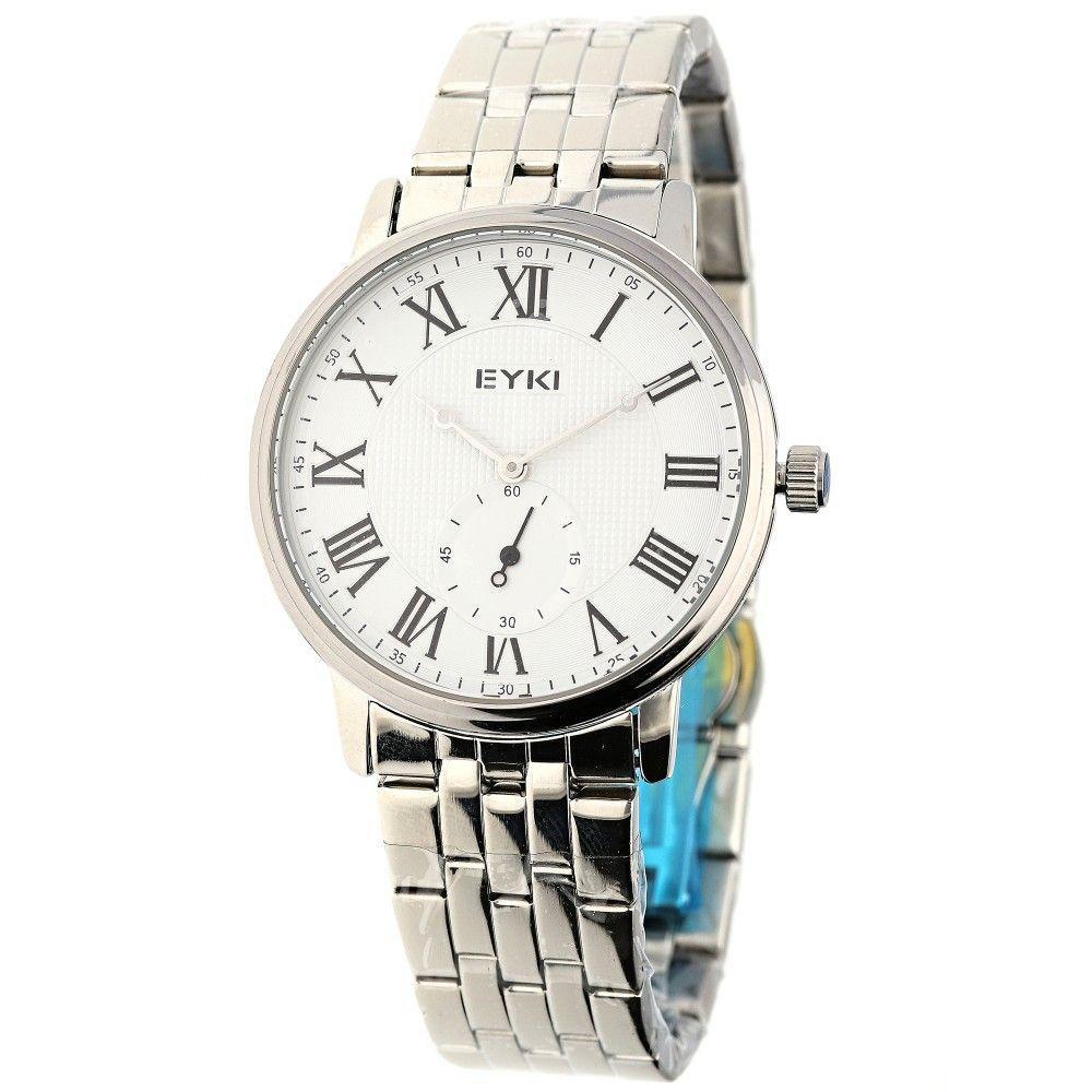 Klasické pánské hodinky s ocelovým řemínkem a římskými indexy..0612 170893 Hodiny