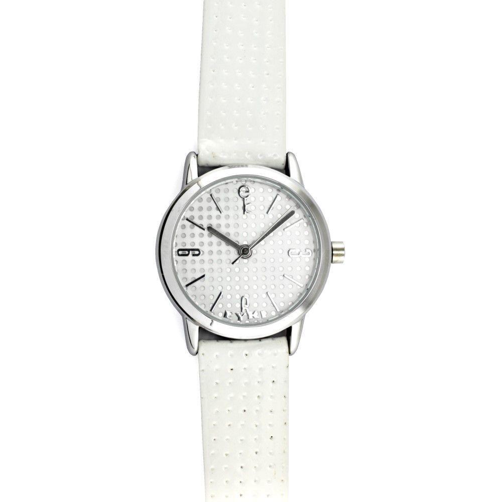 Moderní dámské náramkové hodinky se stříbrným řemínkem a bílým číselníkem..0550 170853 Hodiny