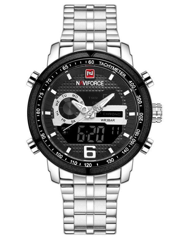 Pánské sportovní hodinky s ocelovým řemínkem..0622 170903 Hodiny