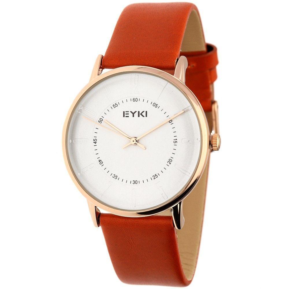 Stylové unisex hodinky s koženým řemínkem v hnědém provedení..0605 170888 Hodiny