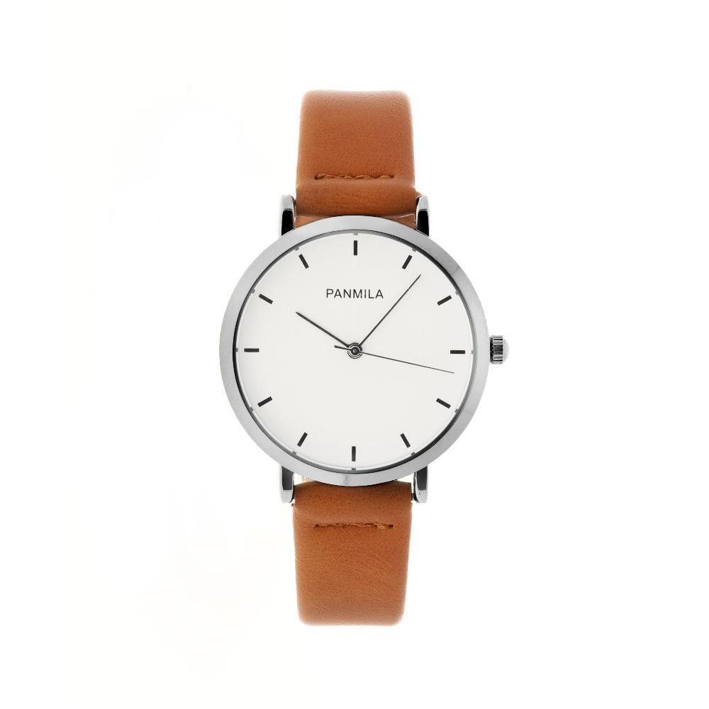 Jednoduché, ale velmi elegantní dámské hodinky s moderním koženým řemínkem. .0901 171046 Hodiny