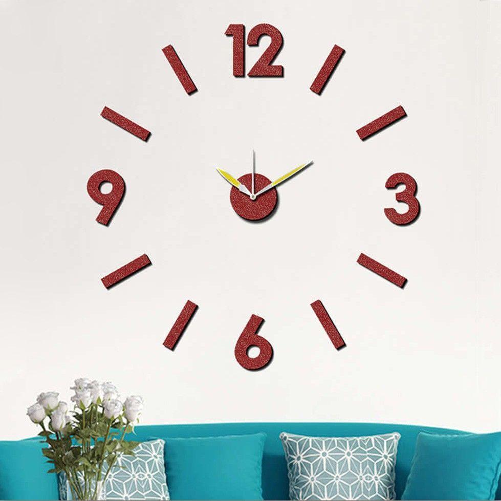 Nový originální design nástěnných nalepovacích hodin. Pěnové číslice s lesklým povrchem v červené barvě. .01313 171425 Hodiny