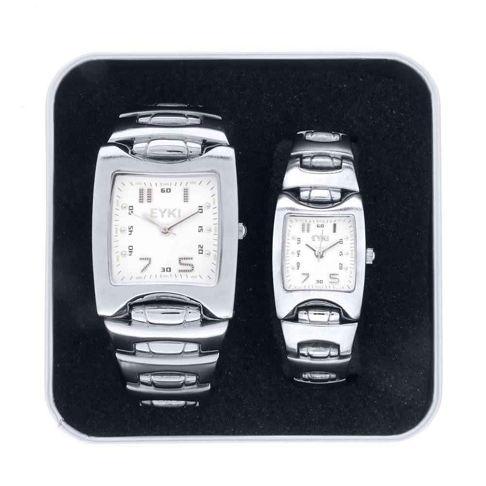 Unisexová sada hodinek 31x30 mm a 21x22 mm..01351 171460 Hodiny
