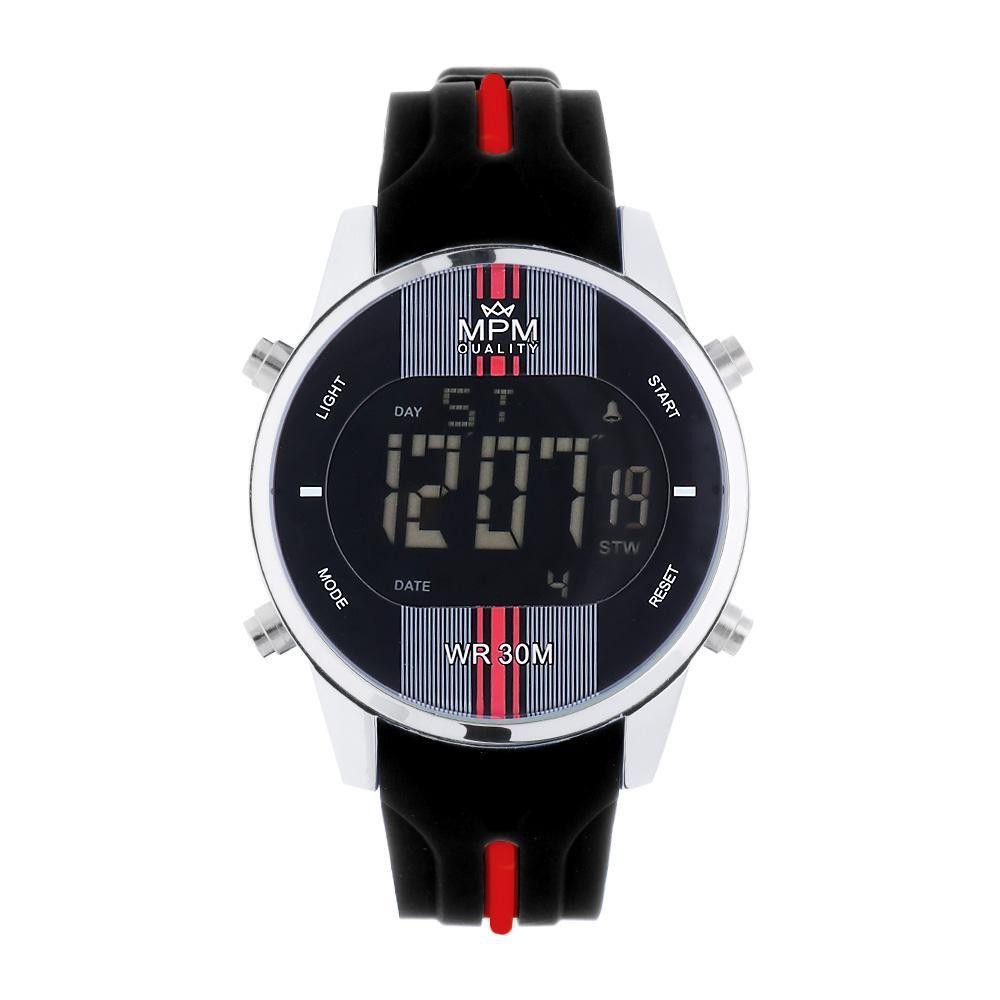Pánské digitální hodinky MPM s barevným silikonovým řemínkem..01381 171476 Hodiny