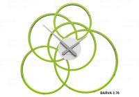 Designové hodiny 10-215 CalleaDesign Black Hole 59cm (více barevných verzí) Barva zelené jablko-76 166420 Hodiny