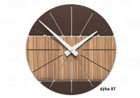 Designové hodiny 10-029 natur CalleaDesign Benja 35cm (více dekorů dýhy) Design tmavý dub - 83 166498 Hodiny