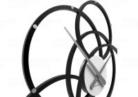Designové hodiny 10-215 CalleaDesign Black Hole 59cm (více barevných verzí) Barva stříbrná-2 - RAL9006 166402 Hodiny