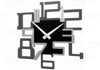 Designové hodiny 10-131 CalleaDesign Big Kron 41cm (více barevných verzí) Barva čokoládová-69 - RAL8017 Dýha šedý kořen - 84 169842 Hodiny