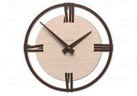 Designové hodiny 10-216n natur CalleaDesign Sirio 60cm (více dekorů dýhy) Dýha wenge - 89 169630 Hodiny