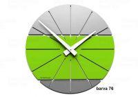 Designové hodiny 10-029 CalleaDesign Benja 35cm (více barevných verzí) Barva zelené jablko - 76 166513 Hodiny