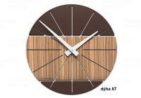 Designové hodiny 10-029 natur CalleaDesign Benja 35cm (více dekorů dýhy) Design zebrano - 87 166501 Hodiny