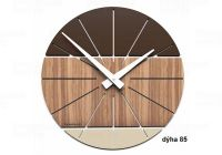 Designové hodiny 10-029 natur CalleaDesign Benja 35cm (více dekorů dýhy) Design černý ořech - 85 166499 Hodiny