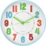 <p>Plastvé nástěnné hodiny s barevnými číslicemi.</p>.02000 173131