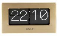 Designové stolní překlápěcí hodiny 5620GD Karlsson 21cm 174645